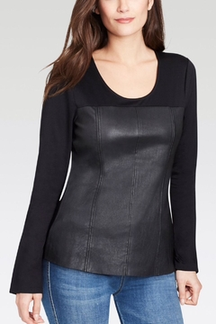 Ecru Leather Front Top - Product List Image