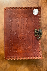 benji  Leather Hamsa Hand Handmade Journal - Product Mini Image