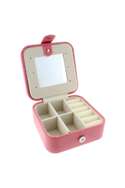 Jane Marie Leather Jewelry Box - Coral Square - Product Mini Image