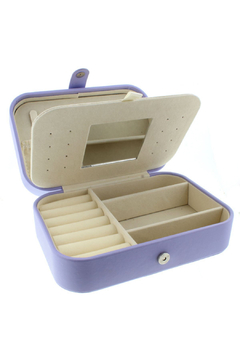 Jane Marie Leather Jewelry Box - Lavender Rectangle - Product List Image