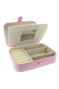 Jane Marie Leather Jewelry Box - Light Pink Rectangle - Product List Image