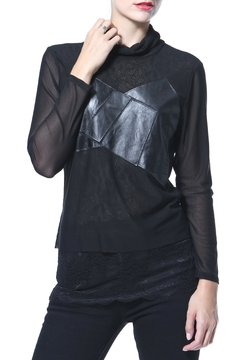 Madonna & Co Leather & Knit Tunic - Product List Image