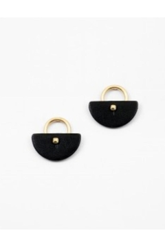 Shoptiques Product: Leather Lock Earrings