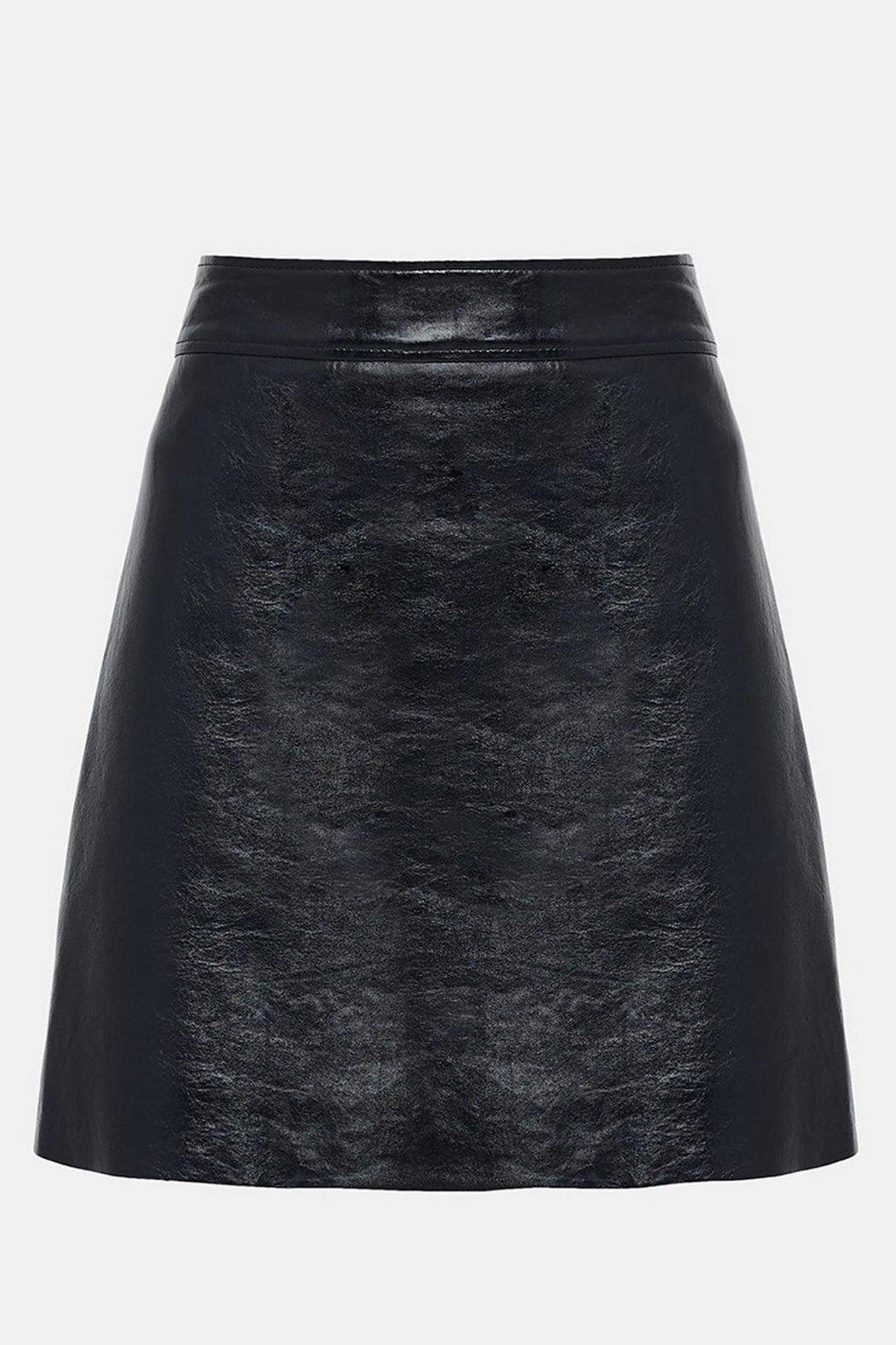 Theory Leather Mini Skirt - Front Cropped Image