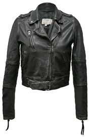 Nicole Miller Leather Moto Jacket - Product Mini Image