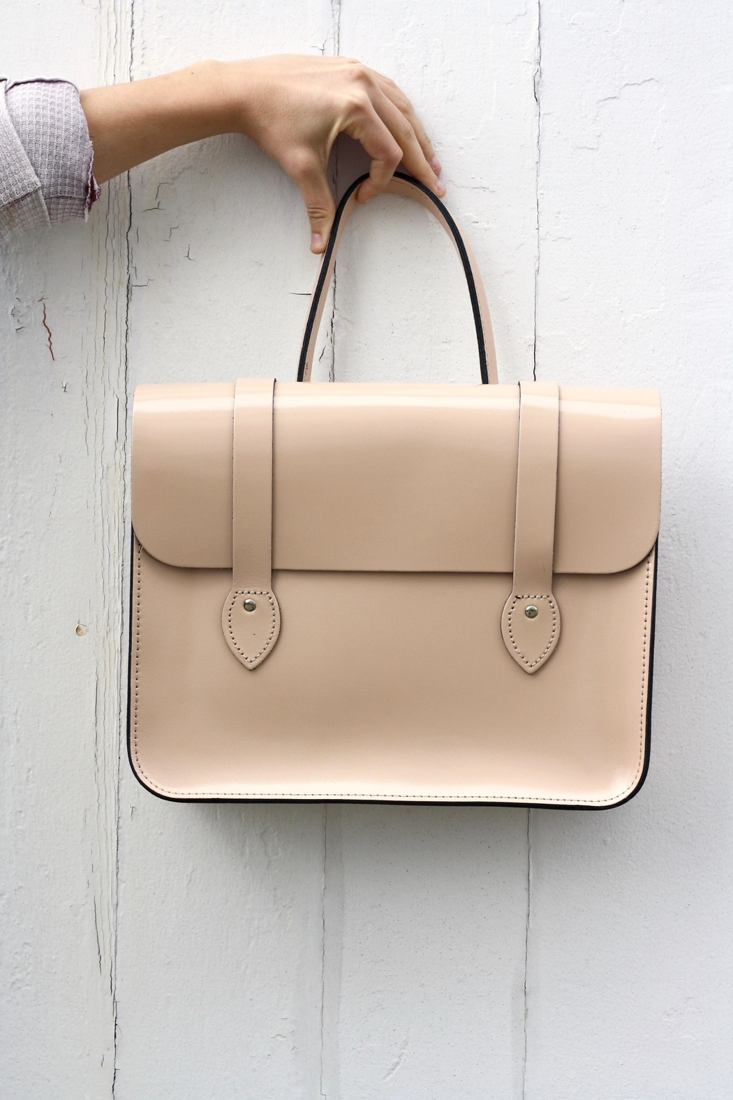 The Leather Satchel Company Leather Music Case - Front Cropped Image