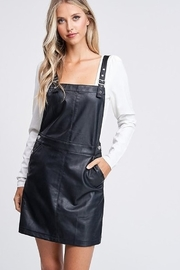 Emory Park Leather Overall Dress - Product Mini Image