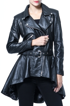 Madonna & Co Leather Peplum Moto - Product List Image
