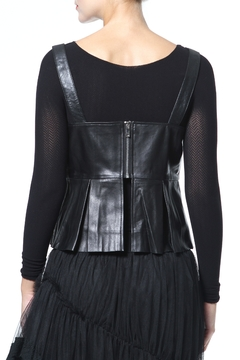 Madonna & Co Leather Peplum Top - Alternate List Image