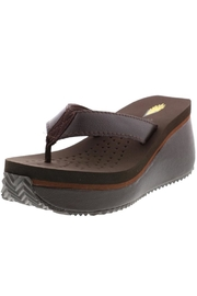 Volatile Leather Platform Flip-Flops - Front full body