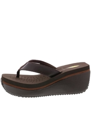 Volatile Leather Platform Flip-Flops - Front cropped
