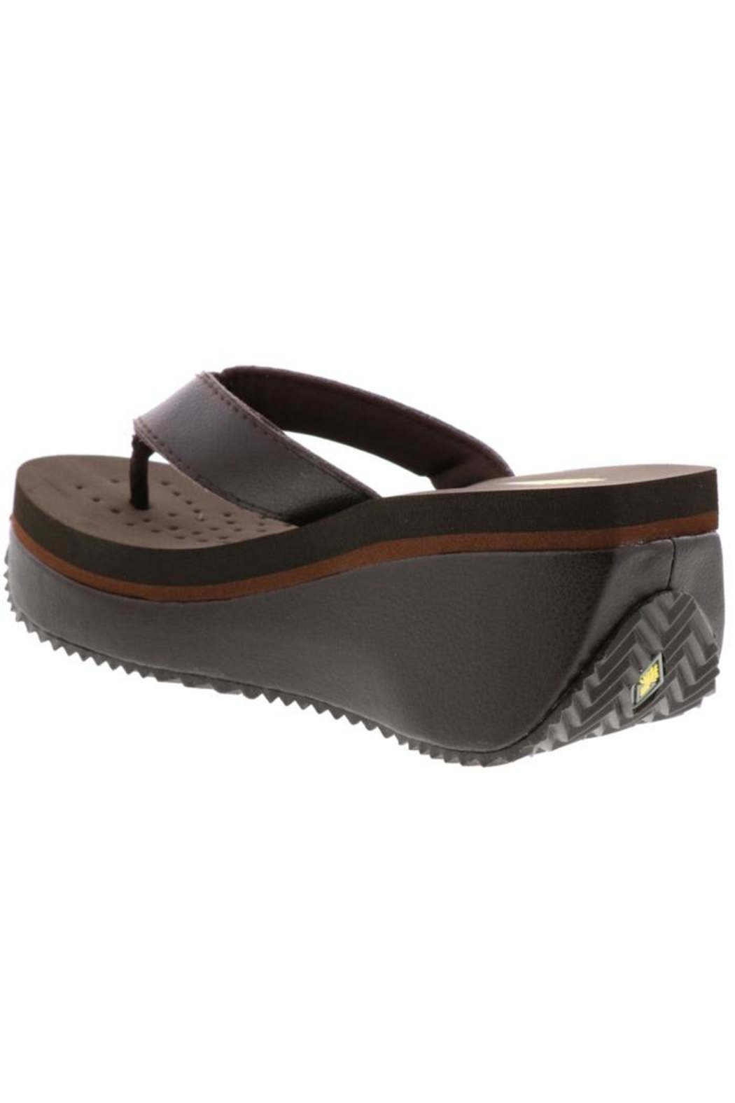 Volatile Leather Platform Flip-Flops - Side Cropped Image