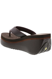 Volatile Leather Platform Flip-Flops - Side cropped