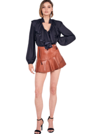 Do & Be Leather Ruffle Skort - Other