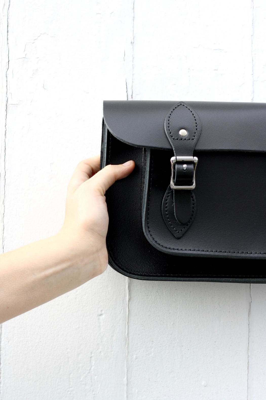 The Leather Satchel Company Leather Satchel Bag - Front Full Image