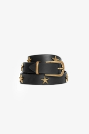 Anine Bing Leather Star Belt - Back cropped