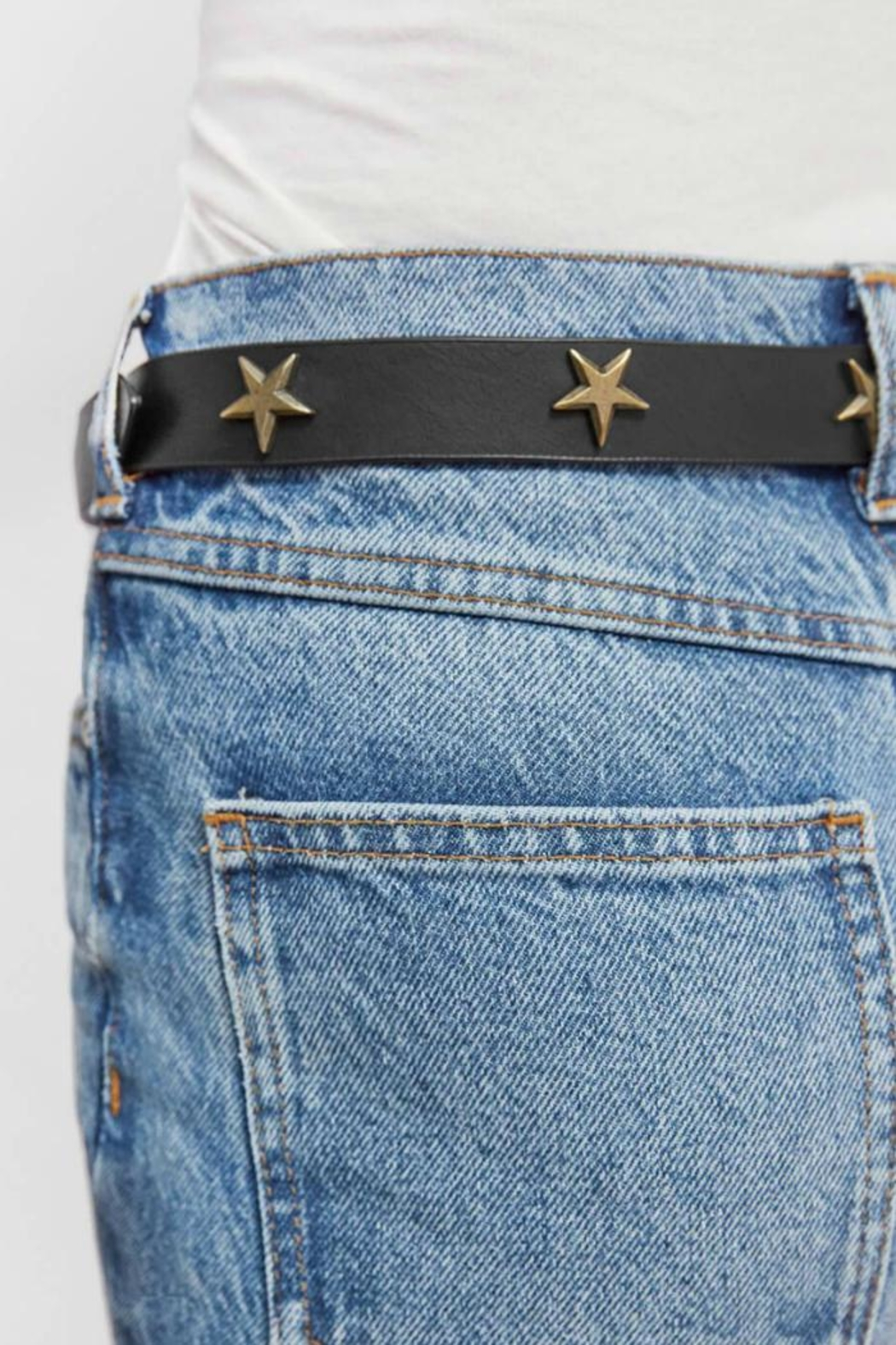 Anine Bing Leather Star Belt - Front Full Image