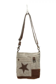 MarkWEST-Myra Bag Leather Star Cross Body Bag - Product Mini Image