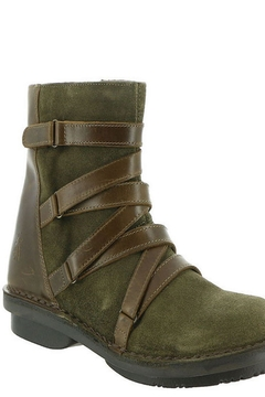 Shoptiques Product: Leather Strapped-Front Boot