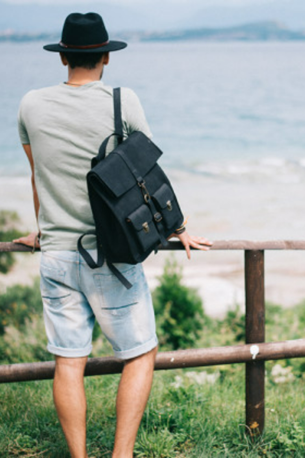 Kjore Leather Survey Backpack - Front Cropped Image