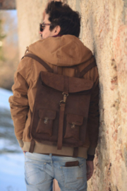 Kjore Leather Survey Backpack - Front cropped