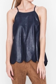 Very J  Leather Tank Top - Product Mini Image