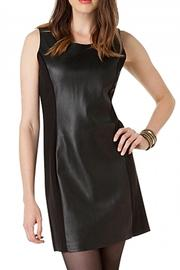 Yest Leather Fabric Dress - Front full body