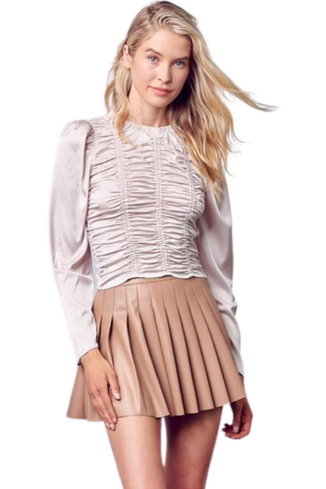 Do & Be Leather Tennis Skirt - Main Image