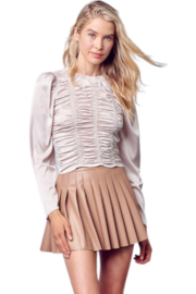 Do & Be Leather Tennis Skirt - Front cropped