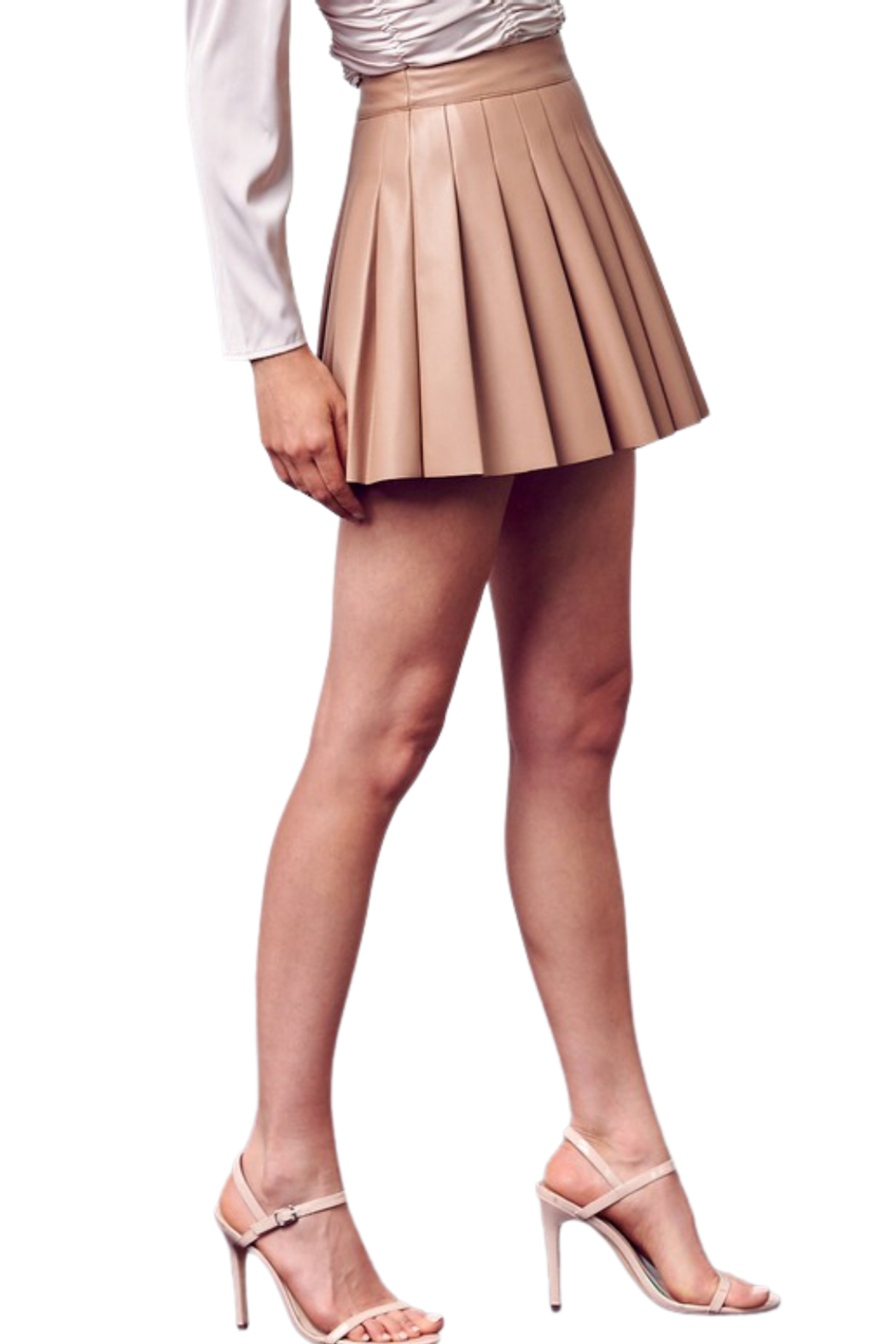 Do & Be Leather Tennis Skirt - Side Cropped Image