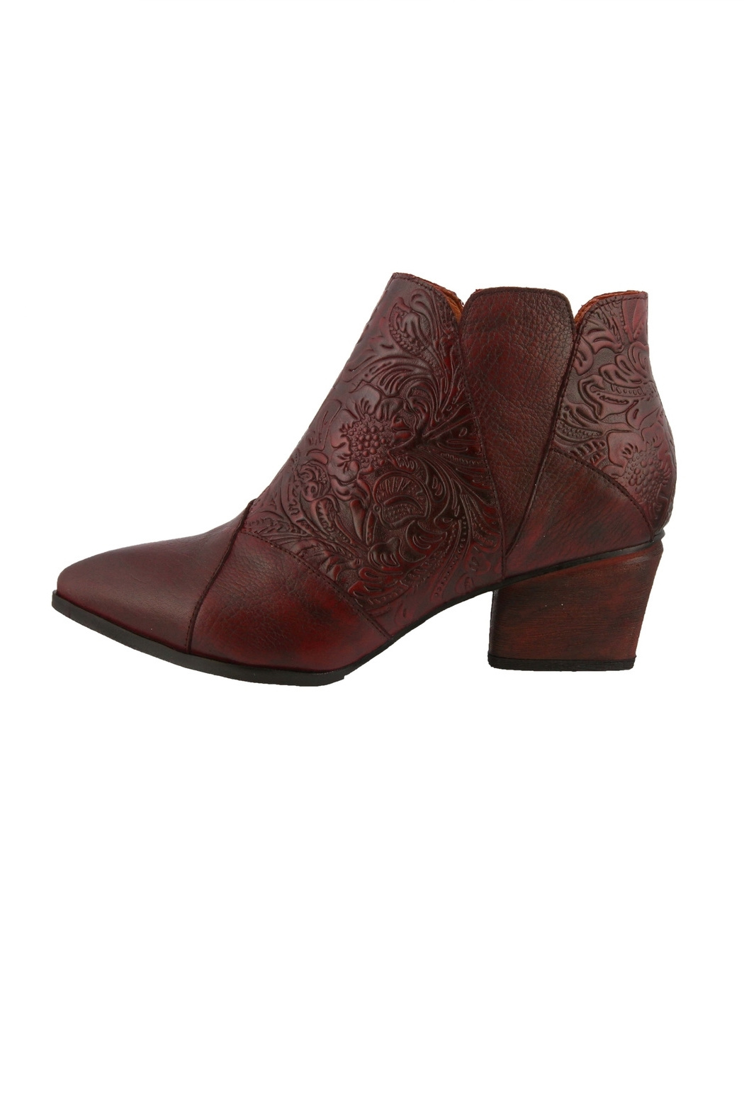 Spring Footwear Leather Tooled Bootie - Main Image