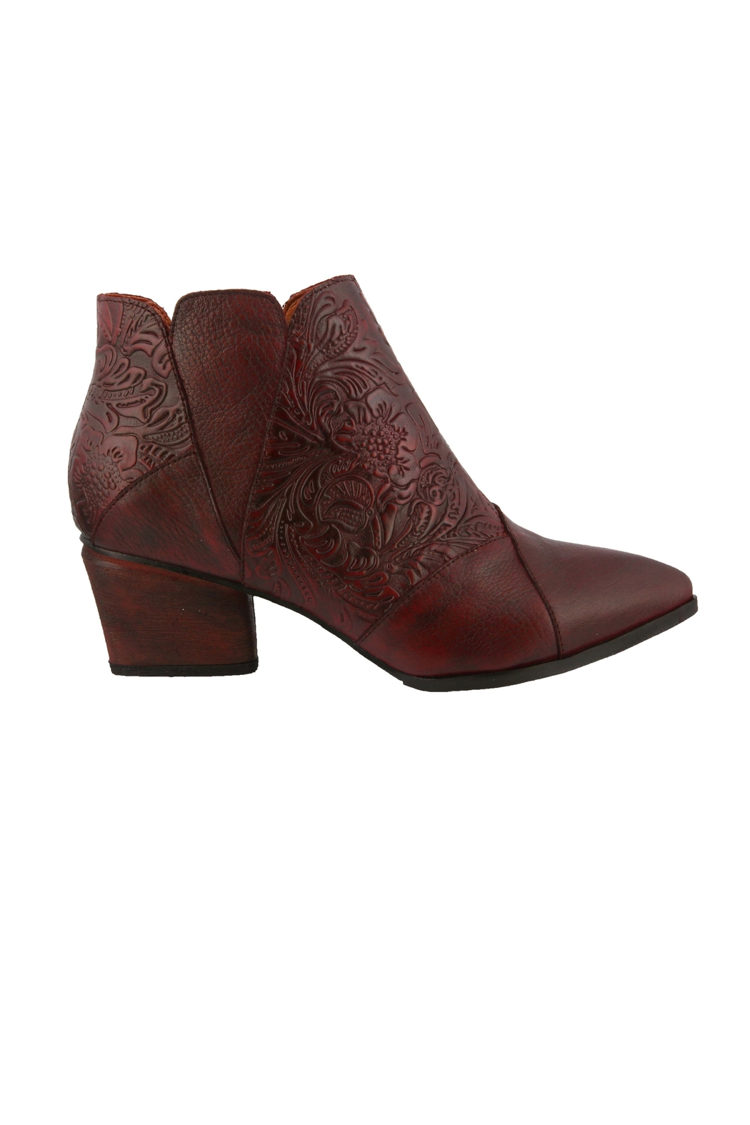 Spring Footwear Leather Tooled Bootie - Side Cropped Image