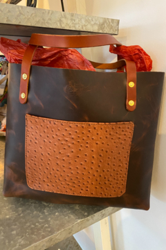 Kindred Mercantile Leather tote - Product List Image