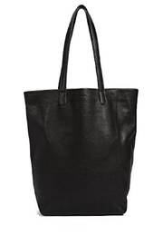 Baggu Leather Tote Bag - Front cropped