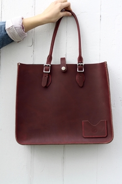 Shoptiques Product: Leather Tote Bag