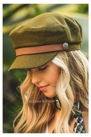 Olive & Pique Leather Trim Cap - Front cropped