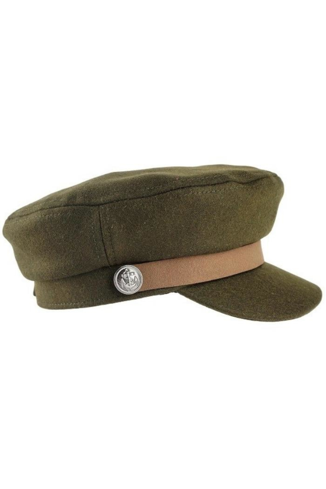 Olive & Pique Leather Trim Cap - Front Full Image