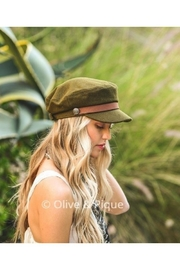 Olive & Pique Leather Trim Cap - Other