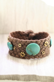 Richi Atelier Leather Turquoise Bracelet - Product Mini Image