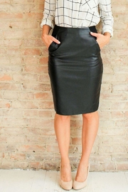 Very J Leather Weather Skirt - Product Mini Image