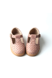 Consciously Baby  Leather Woven T-Bar - Rose Cloud - Product Mini Image