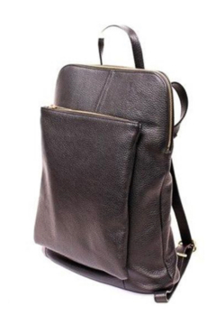 German Fuentes  Leather Zipper Backpack - Product List Image
