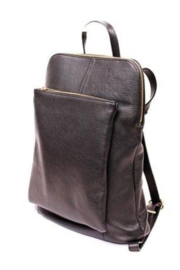 German Fuentes  Leather Zipper Backpack - Front cropped