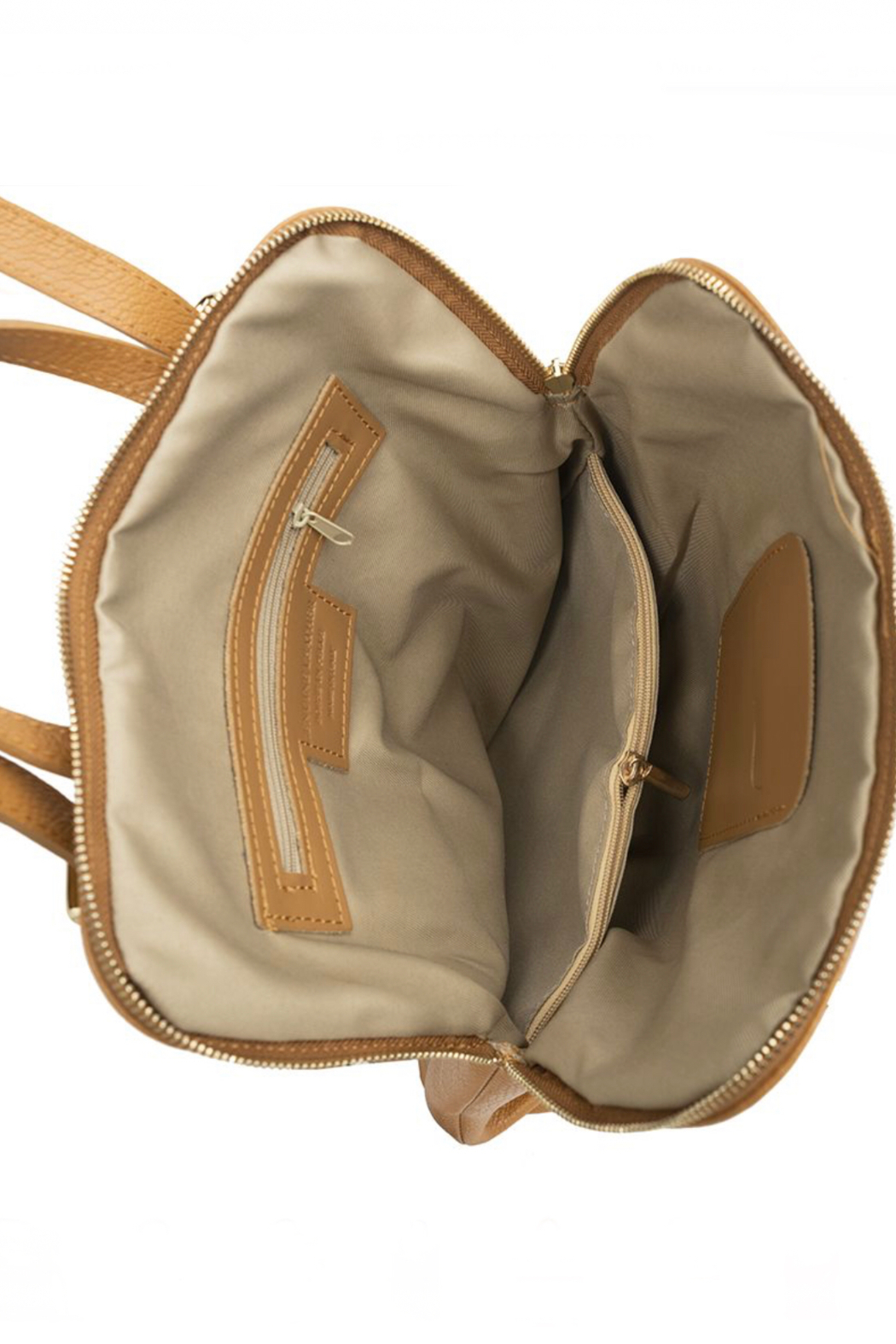 German Fuentes  Leather Zipper Backpack - Side Cropped Image