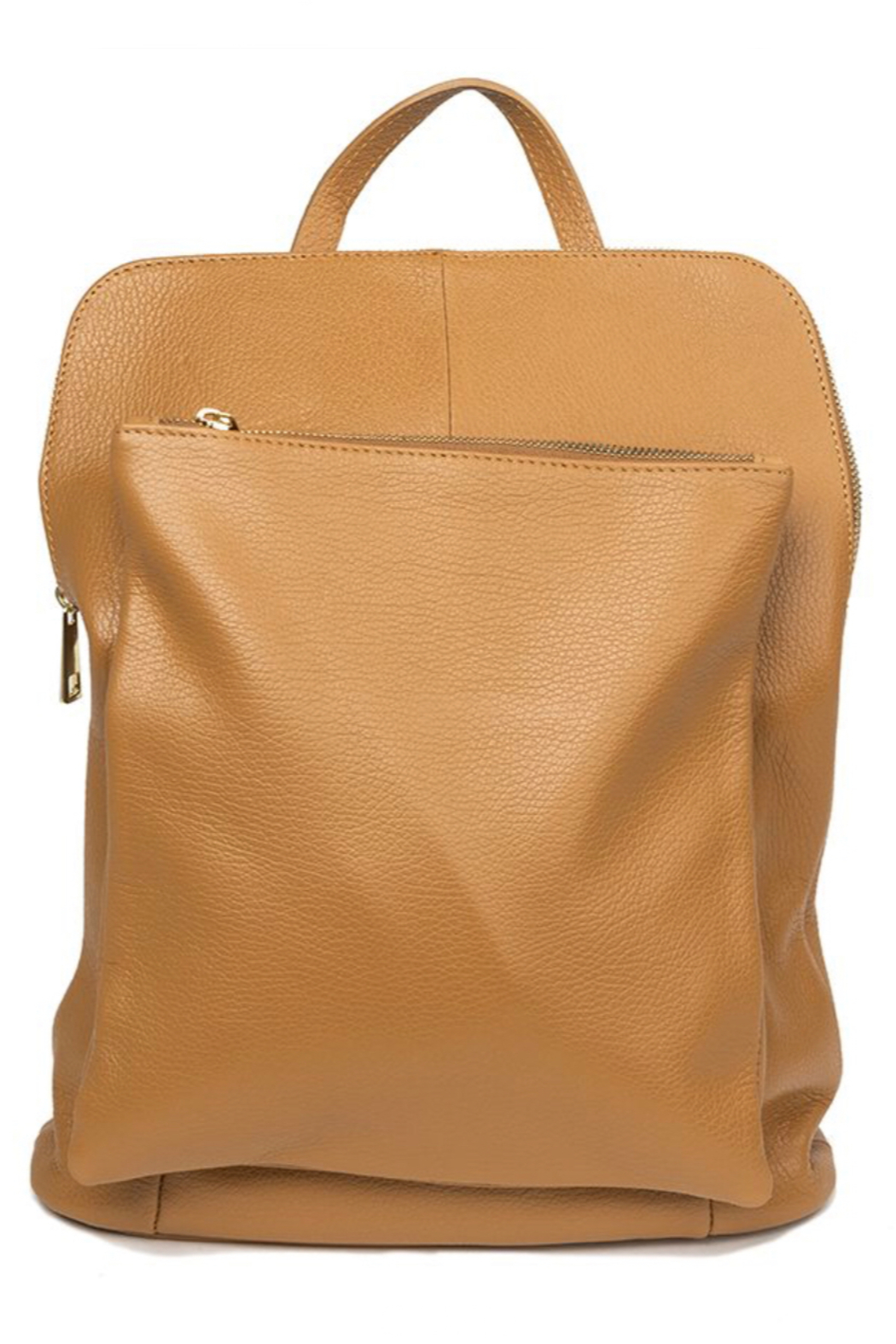 German Fuentes  Leather Zipper Backpack - Front Full Image