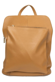 German Fuentes  Leather Zipper Backpack - Front full body