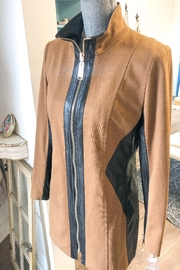INSIGHT NYC Leather Zippered Jacket Camel - Product Mini Image
