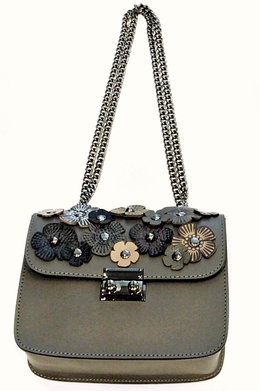 Leather Country Flower Leather Bag - Front Cropped Image