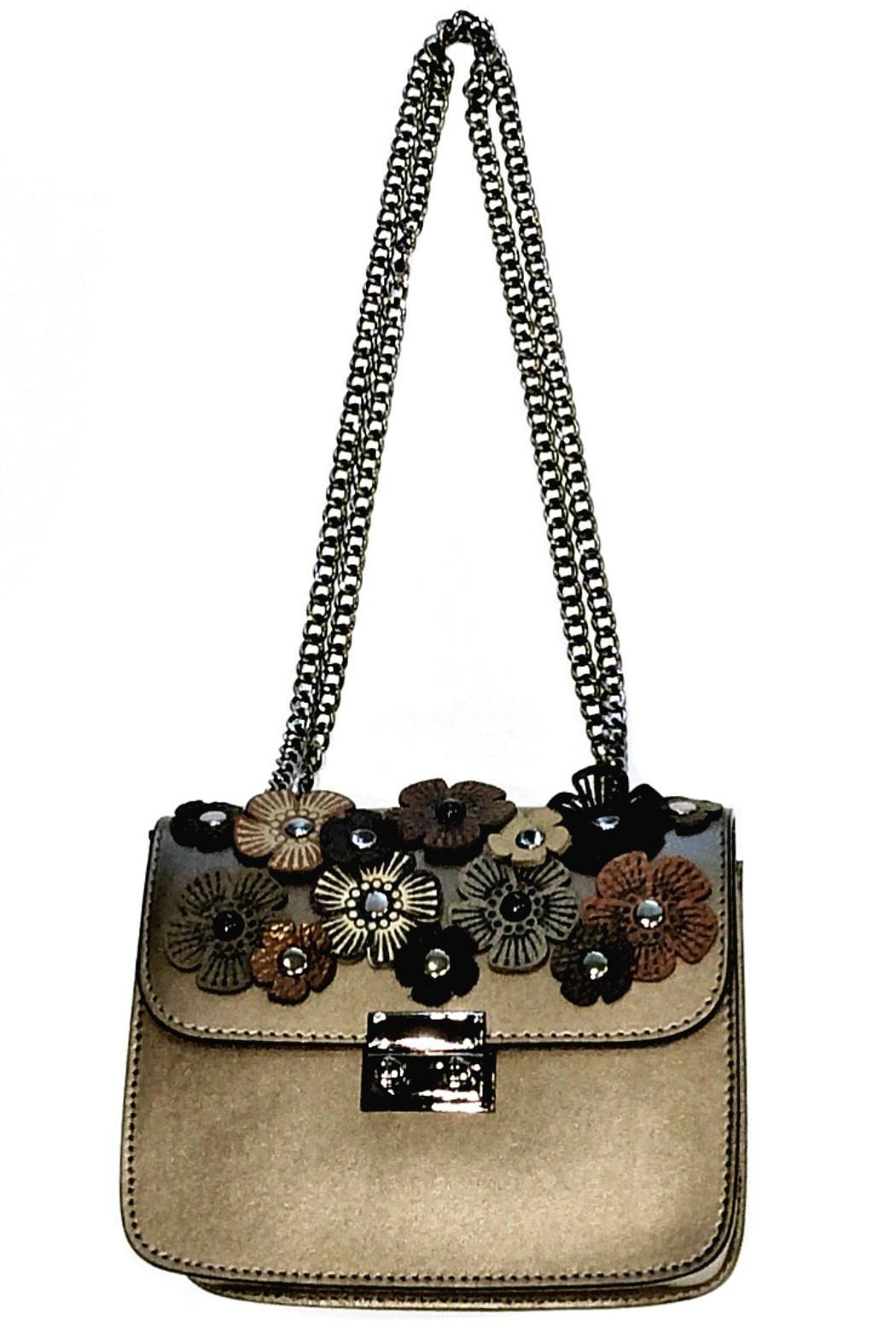 Leather Country Flower Leather Bag - Main Image