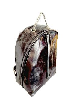 Shoptiques Product: Metallic Leather Backpack